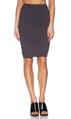 SUNDRY Mid Length Skirt in Black