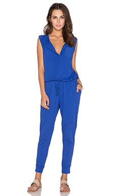 SUNDRY Sleeveless Jumpsuit in Royal Blue