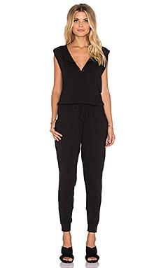 SUNDRY Sleeveless Jumpsuit in Black