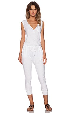 SUNDRY Sleeveless Jumpsuit in White