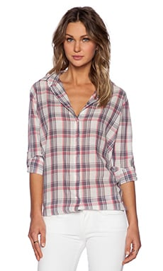 SUNDRY Oversized Button Up in Madras
