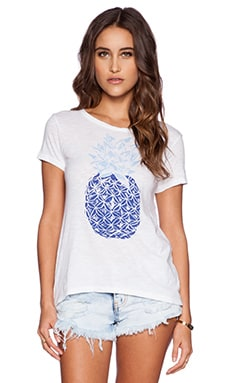 SUNDRY Pineapple Tee in White