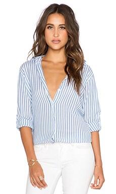 SUNDRY Stripe Oversized Shirt in White