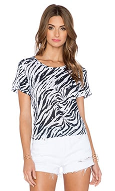 SUNDRY Zebra Tee in White