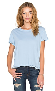 SUNDRY Vintage Loose Tee in Aquamarine