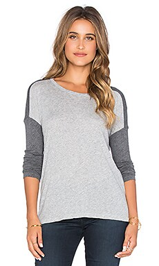 SUNDRY Loose Tunic in Dark Grey & Light Grey