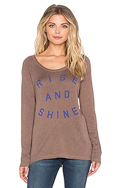 SUNDRY Rise & Shine Long Sleeve Raglan Tee in Moss