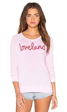 SUNDRY Loveland Long Sleeve Tee in Pink