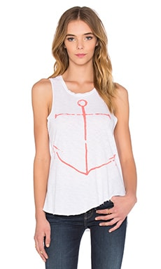 SUNDRY Anchor Hi Low Tank in White