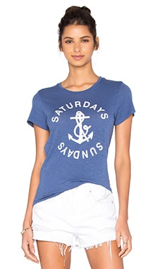SUNDRY Anchor Tee in Denim