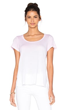 SUNDRY Ombre Wash Crew Neck Tee in Pink