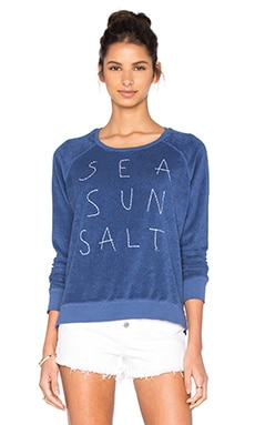 Sea Sun Salt Long Sleeve Top in Denim