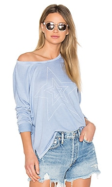 Star Studded Tee in Chambray