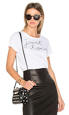 Just Love Embroidered Tee in White