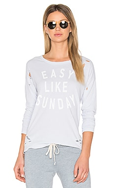 Easy Like Sunday Tee in Grey