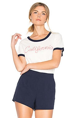 California Ringer Tee in White
