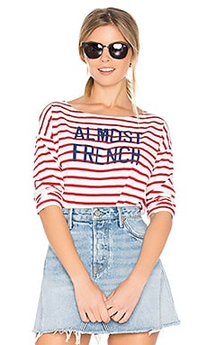 Almost French Long Sleeve Tee in Red & White