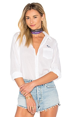 Partly Cloudy Basic Shirt in White