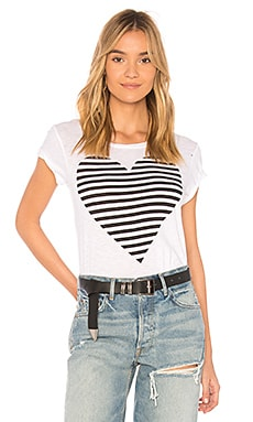 Striped Heart Boy Tee