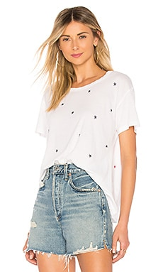 Stars And Hearts Crew Neck Tee SUNDRY $78 NEW ARRIVAL