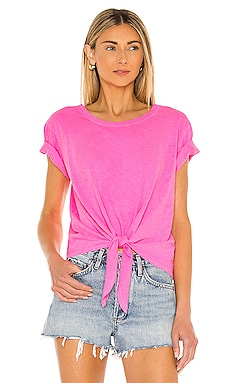 Tie Front T-Shirt SUNDRY $72 Sustainable