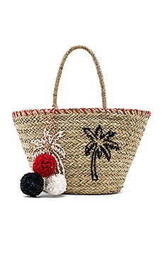 Palm Trees Straw Tote SUNDRY $126