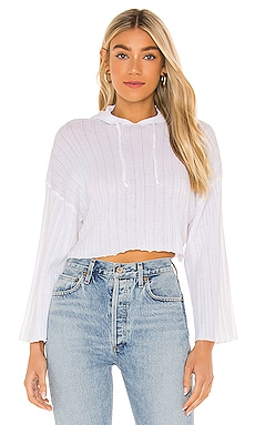 LOUNGE Baha Ribbed Crop Hoodie SNDYS $21 (FINAL SALE)