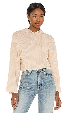 LOUNGE Baha Ribbed Crop Hoodie SNDYS $20 (FINAL SALE)