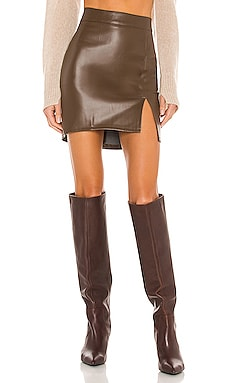 Knox Faux Leather Skirt SNDYS $65