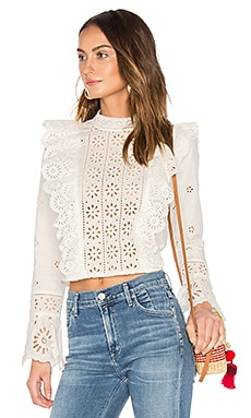 Exploded Eyelet Ruffle Top