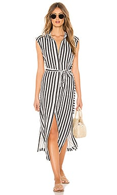 Stripe Long Line Cover Up Seafolly $152 BEST SELLER