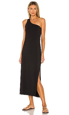 One Shoulder Jersey Midi Dress Seafolly $68 NEW