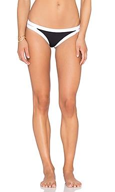 Seafolly Block Party Brazilian Bikini Bottom in Black