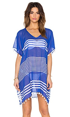 Seafolly Gili Island Kaftan in Blue Ray & White