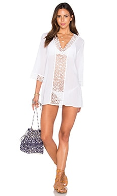 Seafolly Island Kaftan in White