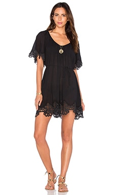Beach Smock Dress in Black