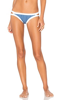 Block Party Brazilian Bikini Bottom in Denim