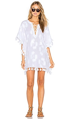 Embroidered Caftan in White