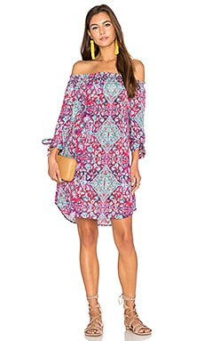 Tapestry Off Shoulder Dress