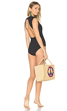 Cap Sleeve One Piece en Noir