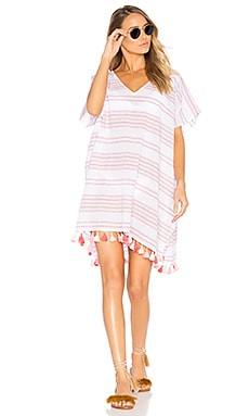 Spaced Stripe Kaftan in Vibrant Pink