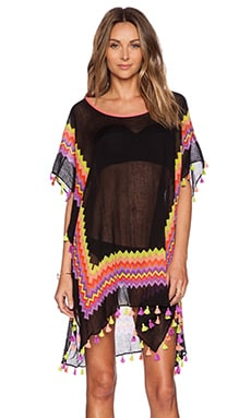 Seafolly Soundwave Drummer Caftan in Black