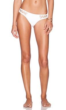 Seafolly Mesh About High Cut Brazilian Bikini Bottom in White