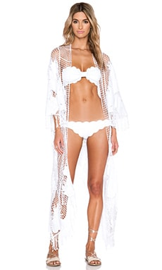 Seafolly Moonshine Kimono in White