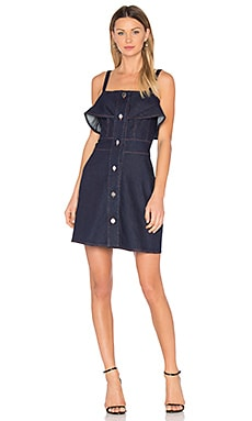 Denim Mini Dress em Índigo