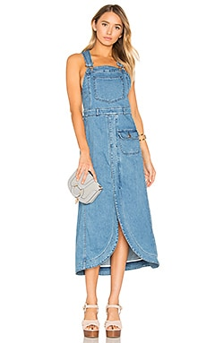 Denim Dress in Washed Indigo