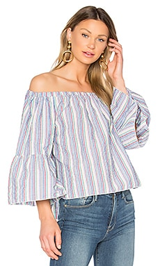 Off the Shoulder Top in Multicolor