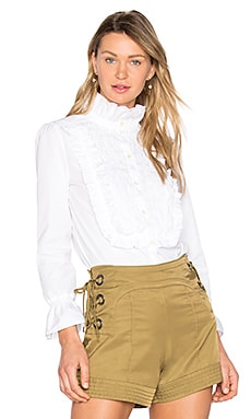 Ruffle Button-Down