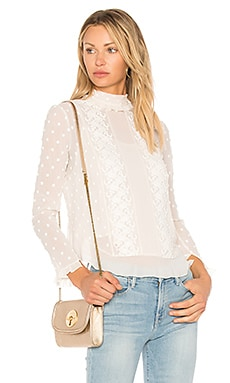 Polka Dot Embellished Top