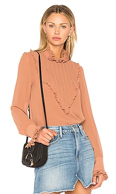 Plisse Embellished Top